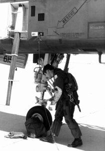 Edward J Waitte with plane